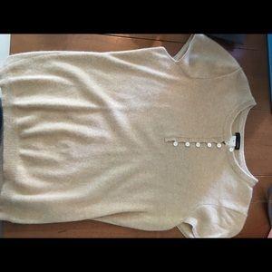 J crew cashmere short sleeve sweater